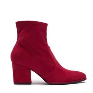 Marc Fisher Block Heel Stretch Ankle Bootie